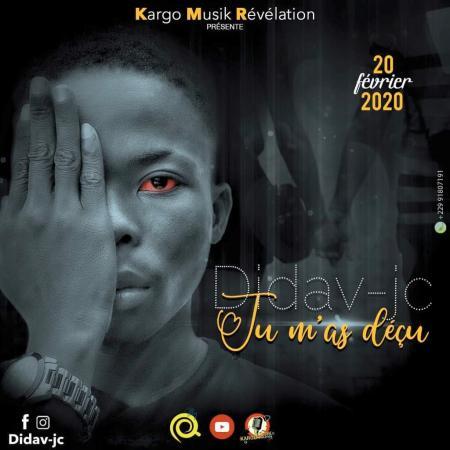 Didav-JC fait officiellement ses premiers pas dans la musique avec son titre «Tu M'as Déçu»