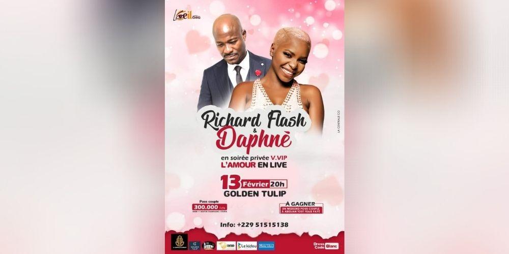 Richard Flash et Daphné sur scène pour un show romantique inoubliable